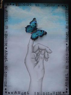 Angel in Disguise - Journal page by Ingrid Kristina V (www.ingridscraftscorner.blogspot.co.uk)