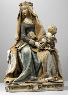 Vierge à l'enfant, dite Nostre Dame de Grasse // XVème siècle// Anonyme. © Ville de Toulouse - musée des Augustins // photographie Daniel Martin. #VirginMary