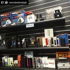 #Repost @wonderlandrpb  Vape section fully stocked! #vape #vapelife #vapeporn #vapeshop #headshop #smokeshop #florida #volcano #gpen #drdabber #atmos #stok #thisthingrips #magicflight #pax #wonderland