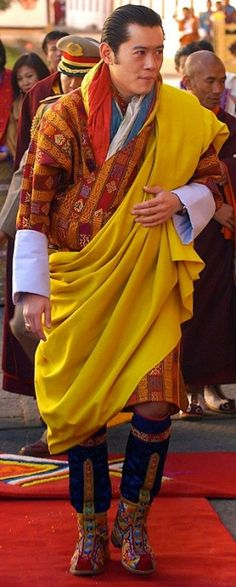 According to Vanity Fair UK one of the Best-Dressed Originals - The King of Bhutan