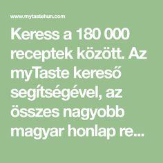 Keress a 180 000 receptek között. Az myTaste kereső segítségével, az összes nagyobb magyar honlap receptjei között keresel Panna Cotta, Paleo, Food And Drink, Dessert Recipes, Math Equations, Cooking, Cucina, Kochen, Desert Recipes
