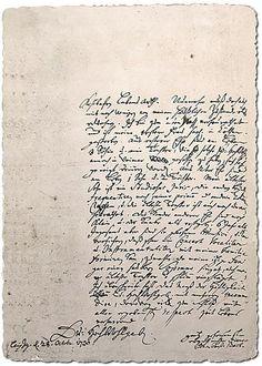 The letter of Johann Sebastian Bach to friend Georg Erdmann