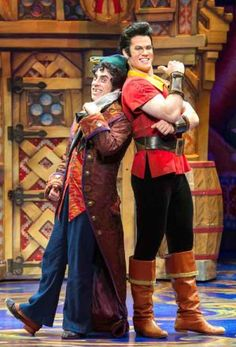 Gaston and Lefou- Beauty and the Beast musical - Broadway Tour Beauty And The Beast Costumes, Disney Beauty And The Beast, Beauty Beast, Broadway Costumes, Theatre Costumes, Pantomime, Theatre Nerds, Musical Theatre, Beauty And The Best