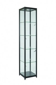 Glass Display Cabinet Showcases With Wooden Structure