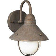 Ooh, now I really like this. $64.14 Filament Design - Burton 1 Light Desert Stone  Outdoor Incandescent Wall Light - CLI-FRT10410109 - Home Depot Canada