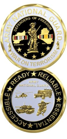 """US Army National Guard """"War On Terrorism"""" Challenge Coin - Meach's Military Memorabilia & More"""