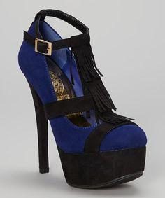 a61e6ad517 Jacobies Footwear Blue Aludra Ankle-Strap Pump