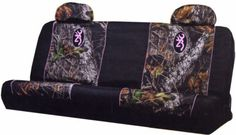 New Browning Pink Camo Mossy Oak Fabric Premium Bench Seat Cover