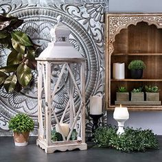 Rustic lanterns are popular this year in home decor for their warmth and charm. Decorate them to make bold statements or simply incorporate them to compliment your decor Indoor Lanterns, Hanging Candle Lanterns, Rustic Lanterns, Metal Lanterns, Lanterns Decor, Candles, Lantern Set, Home Decor Outlet, Wood And Metal