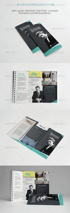 Multipurpose Tri-fold Brochure. Design elements