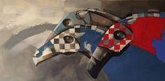 The race continues, painting, acrylic on canvas || Wyścig trwa, obraz, akryl na płótnie