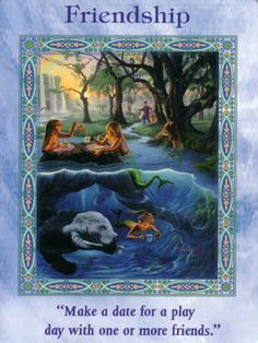 "This card is from the ""Magical Mermaids & Dolphins"" Oracle Card Deck by Doreen Virtue. ""The Magical Mermaids & Dolphins…"
