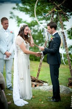 Read More: http://www.stylemepretty.com/2014/05/26/new-england-summer-wedding-at-peaks-island/