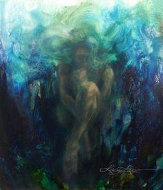 Awaiting the Awakening Art Print Lindsay Rapp, Underwater Painting, Fantasy Mermaids, Nautical Art, Bathroom Art, Sacred Art, Painting Inspiration, Awakening, Concept Art