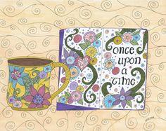 Pure Magic Art Print Wall Art Fairy Tale Coffee by ValerieLorimer, $30.00