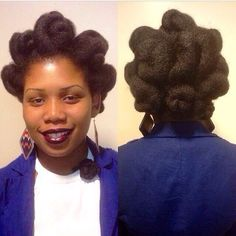 That moment when you want you hair to last before wash day and you create the best updo ever. Check out our gallery of updo styles Natural Hair Updo, Natural Hair Journey, Natural Hair Care, Natural Beauty, Updo Styles, Curly Hair Styles, Afro Hairstyles, Natural Hairstyles, Protective Hairstyles
