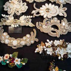 Wedding Hair Accessories, Fashion Accessories, Soutache Necklace, Earrings, Shibori, Fashion Necklace, Wedding Hairstyles, Cufflinks, Pendants