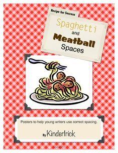 Printing - teach proper spacing { spaghetti and meatball spacing }