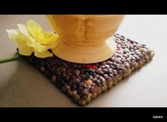 Multicolored Butterfly Bean Coaster  Le Deuxieme by DesignsByCaro, $12.50