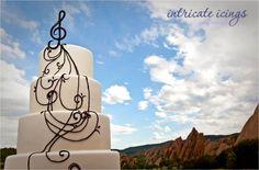 Music themed wedding cake
