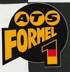 ATS FORMEL FORMULA 1 F1 GP TEAM ORIGINAL PERIOD STICKER ADESIVO AUFKLlEBER D4 D6 Racing Stickers, Vintage Racing, Race Cars, Composition, Decals, Logos, Inspiration, Ebay, Art