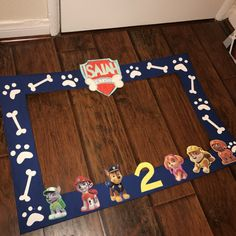 Paw Patrol birthday photo booth frame by itsallfunandframes