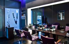 Roma styling chairs bespoke styling units and waiting area by AYALA salon furniture. Salon Inspirations. #Salonideas #Salonlook