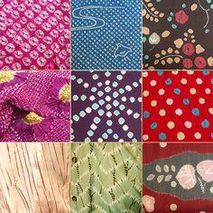 Japanese Shibori-zome fabrics