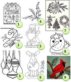 Free embroidery patterns: Christmas – Needle Work
