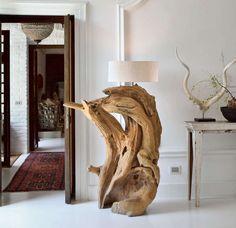 lampade con tronchi di legno - Cerca con Google
