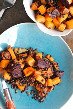 Warm Black Lentil an
