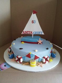 Sailing nautical boat birthday cake