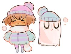 Frisk and Napstablook ||| Undertale Fan Art by shotaw on Tumblr