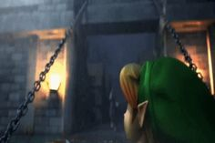 YOU CAN SEE OLDER LINK IN THE OCARINA'S REFLECTION
