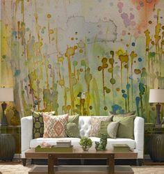 sulu boya duvar fikirleri boyama renklerle desen verme ilginc fikirler serbest calismalar renkli duvarlar