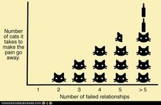 So the path to being a cat lady is paved with failed relationships? I better get on that then...