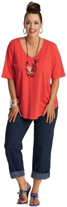 Stitch Fix:  Totally my style.  The necklace would be out of my comfort zone, but I'd be okay with it because it's long.