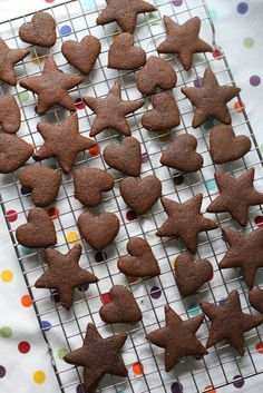 All Natural Gingerbread Cookies made with no processed sugars and all whole wheat flour. I felt good living my toddler a few of these! :)