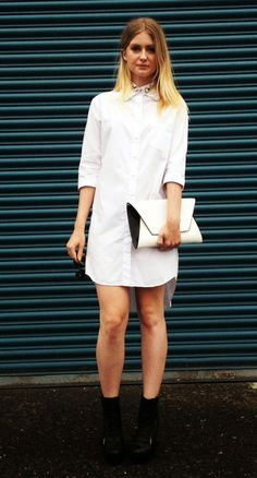 white shirt-dress look