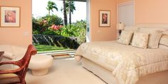 Hale Maluhia  ( Big Island, Hawaii ) #Jetsetter  The home's three pastel-hued bedrooms open up to a koi pond.
