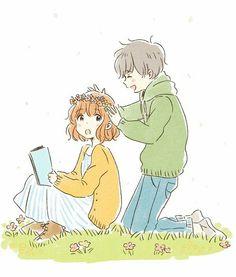 Anime Couples by ituka_e - Chibi Couple, Manga Couple, Anime Love Couple, Cute Anime Couples, Art Anime, Anime Chibi, Kawaii Anime, Character Art, Character Design