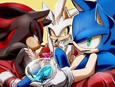 Tags: Anime, Fanart, Sonic the Hedgehog, Sonic the Hedgehog (Character), Shadow The Hedgehog