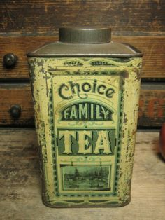 Early Old Choice Family Tea Tall Advertising Tin – S.A. Ilsley and Co. Litho