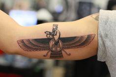farvahar tattoo - Google Search