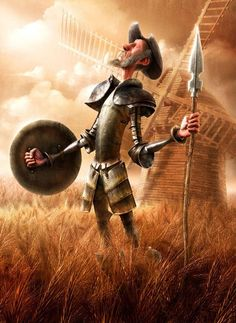 Untitled by Fabricio Moraes. The Ingenious Gentleman Don Quijote of La Mancha by Miguel de Cervantes Saavedra. 3d Cartoon, Cartoon Characters, Cartoon Design, Caballero Andante, Man Of La Mancha, Dom Quixote, Don Miguel, 3d Modelle, Impossible Dream