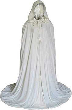 WHITE WITCH WHITE HOODED CAPE//CLOAK  GANDOLPH ICE QUEEN
