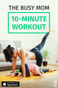 Are you a new mom struggling to find time to fit in a workout? Improve your well-being with our high-intensity interval training (HIIT) inspired workouts. Added bonus, no need to organize a sitter, our app will get you le Fitness Workouts, Sport Fitness, At Home Workouts, Fitness Motivation, Health Fitness, Training Workouts, Hiit, Forme Fitness, 10 Minute Workout