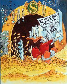 Carl Barks print of Uncle Scrooge