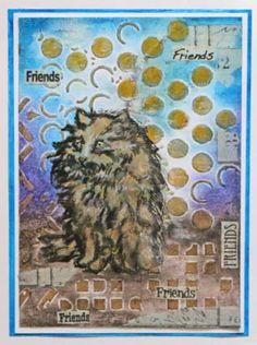 katzelkraft day - Best friends, beste Freunde - Eine Katzen-Karte mit Motvstempel von Katzelkraft - Idee und Umsetzung Daniela Rogall
