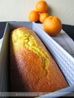 Receta. Bizcocho de naranja. Sin lactosa. Sin leche./ Recipe. Orange cake. Lactose free. Without milk. / Blog Somosgolosos.